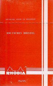 Image de 100 Fiches Bristol couleurs - 75 x 125 mm