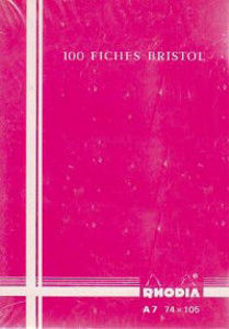 Image de 100 Fiches Bristol A7