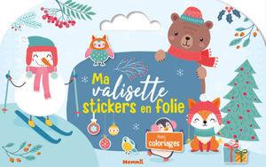 Image de Ma valisette stickers en folie : Noël : avec coloriages