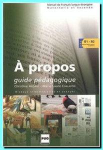 Image de A propos, niveaux B1/B2 - Guide Pédagogique