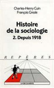 Image de Histoire de la Sociologie.2. Depuis 1918