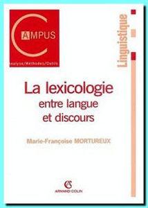 Image de La lexicologie entre langue et discours