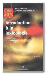 Image de Introduction à la lexicologie - sémantique et morphologie
