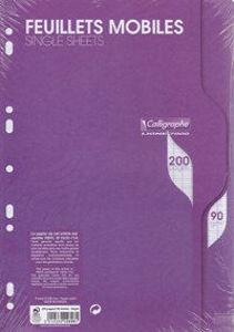 Image de Feuilles mobiles A4 Quadrillées 5x5 200 pages