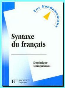Image de Syntaxe du français
