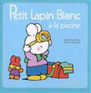 Image de Petit Lapin Blanc à la piscine