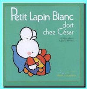 Image de Petit Lapin Blanc dort chez César