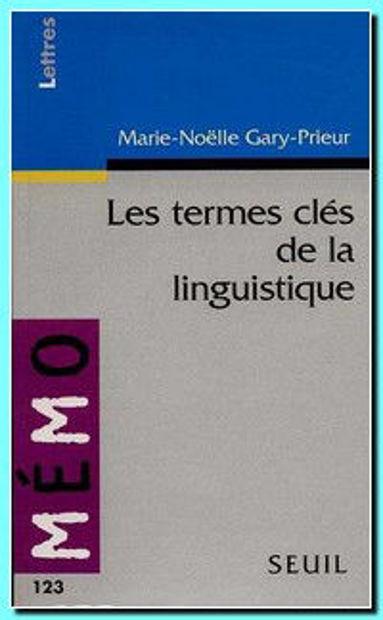 Image de Les termes clés de la linguistique