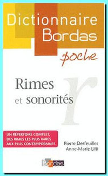 Image de Dictionnaire des rimes et sonorités