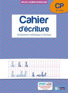 Image de Cahier d'écriture, CP - 6-7 ans : entraînement méthodique à l'écriture