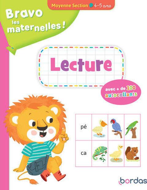 Image de Bravo les maternelles ! : Lecture avec + de 100 autocollants moyenne section, 4-5 ans
