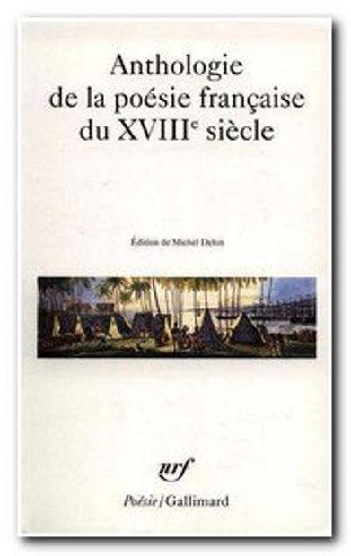 Image de Anthologie de la poésie française du XVIIIe siècle
