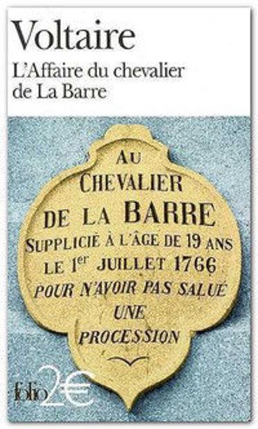 Image de L'Affaire du chevalier de La Barre - Précédé de L'Affaire Lally