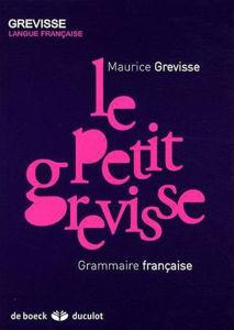 Image de Le petit Grevisse : grammaire française