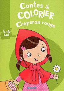 Image de Chaperon rouge - conte à colorier 4-6 ans