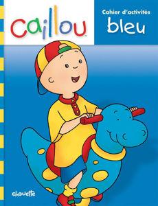 Image de Caillou. Cahier d'activités bleu.