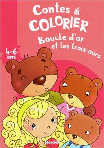 Image de Boucle d'or et les trois ours - conte à colorier 4-6 ans