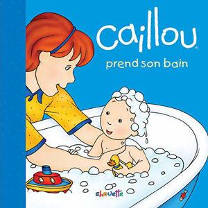Image de Caillou prend son bain