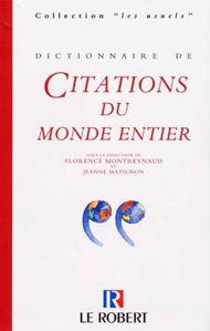 Image de Dictionnaire des citations du monde entier
